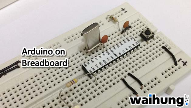 Making your own arduino part on breadboard